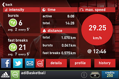 Normal Volar cometa Artefacto  Adidas miCoach Basketball presented by Eric Gordon and featuring SPEED_CELL  connectivity